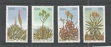 S.W.A 1981 ALOES SG,377-380 UN/MM NH LOT 1142A