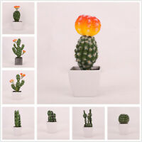 Artificial Succulent Plant Without Pot Fake Cactus Office Home Garden Decor New
