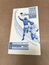 1963 San Diego Chargers Pocket Schedule RARE