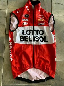 Lotto Soudal Belisol Rain Vest Gilet Team Rider Issued Tour de France Vermarc