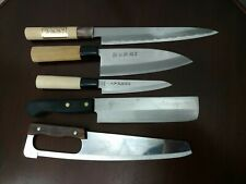 Lot of 5 Japanese Chef's Kitchen Knives