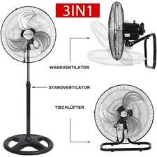 3in1 Ventilator Ø45cm Standventilator Leise Bodenventilator 80W Wandventilator