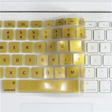 "METALLIC GOLD Keyboard Cover Skin for Macbook White 13"""