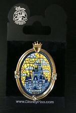 Disney Pin Wdw Cinderella Castle Window Stained Glass Happiest On Earth