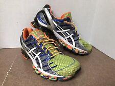 Para Hombre Zapatos Asics Gel-Kinsei 4 Naranja vibrante Azul Verde T139Q Calzado para Correr Talla 12