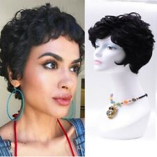 Short Curly Human Hair Wigs With Free Bangs For Black Women Brazilian Remy Hair