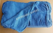 1000 NEW SHOP RAGS / INDUSTRIAL CLEANING TOWELS BLUE 14x14 Towelcenter.com