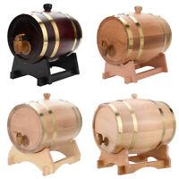 3L 5L 10L Oak Barrel Wooden Barrel for Beer Wine Whiskey Rum Port Keg USA STOCK
