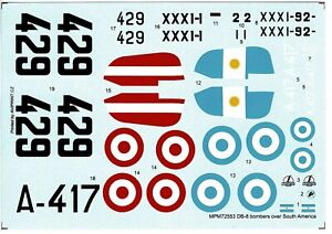 MPM Productions 72553 1/72 Douglas DB-8  'Over South America' decals only