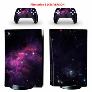 Galaxy Milky Way Vinyl Skin Sticker for PS5 Console Controller Disc Version