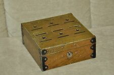 Vintage Home Budget Coin Bank Metal lock box with slots NO KEY