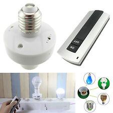 E27 Screw Wireless Remote Control Lamp Bulb Holder Socket Switch 110V US Stock