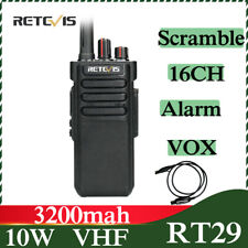 Retevis RT29 Funkgerät 10W Funkgerät 3200mAh 16Kanäle VOX Scan Funktio Radio