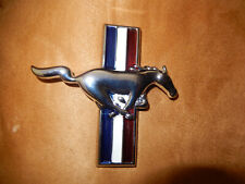 1965-66 Mustang Ford Licensed Product Metal Chrome Run Horse Emblem pin on/nuts