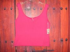 WORTH WOMEN'S KNIT TOP PINK BLOUSE SIZE L