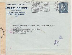 Belgium, WWII, Cover, Censored, advertising