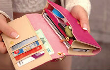 Women's Envelope Wallet Purse Multifunctional Leather Clutch Bag Free Shipping