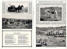 Friedliche Arbeit hinter der Front ( Bienenkörbe Feldbäckerei Ernte )1915 * WW 1