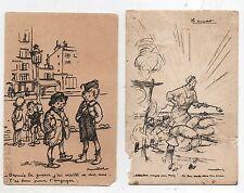 POULBOT. Lot 2 cartes postales éditions Ternois. Cartes abîmées