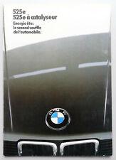 V13677 BMW 525E - CATALOGUE - 01/85 - A4 - FR