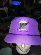 trucker hat baseball cap arctic cat purple rv sports thief river falls MN retro