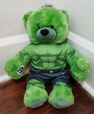 "Build a Bear Marvel Avengers 18"" Green INCREDIBLE HULK Plush & Outfit- UNSTUFFED"