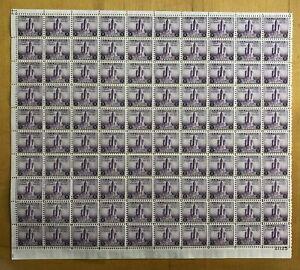 US Scott #729 Full sheet of 100-MNH-No perf seps