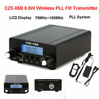 0.5W Wireless PLL FM Transmitter 76MHz~108MHz Antenna Home Broadcast LCD