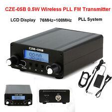 0.5W Wireless PLL FM Transmitter 76MHz~108MHz Antenna Home Broadcast LCD