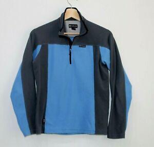HAGLOFS Womens Blue Grey Polar Fleece 1/4 Zip Polartec Size UK 14 EUR 40