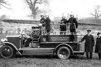 Iew-62 Fire Engine & Crew, Abbey Gardens, Bury St Edmunds, Suffolk. Photo