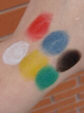 Face paint make up cream red white black blue green yellow Halloween grease body