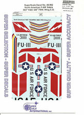 Superscale Decal 48-962 N.A. F-86F Sabre
