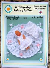 "Dolls knitting pattern for a 4"" inch doll No 244 by Val Young"