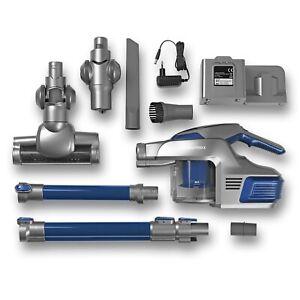 CLEANmaxx Akku-Zyklon-Staubsauger - Mit Tele-Gelenksaugrohr - blau/silber B-Ware