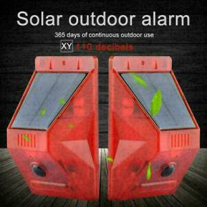 Solar Strobe Light with Motion Detector Solar Alarm Siren 129db W3E4 Loud K5B1