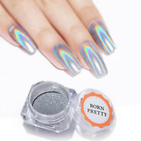 0.5g Holographic Laser Rainbow Nail Art Glitter Powder Dust Chrome Pigment Decor
