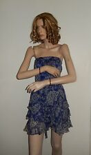 REBECCA TAYLOR DRESS STRAPLESS SCALLOPED FRINGE TIERED DRESS SIZE 2