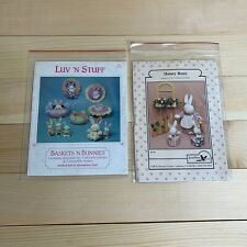 Lot Easter Bunny Arts & Crafts Sewing Patterns Stencils- Honey Buns Luv 'N Stuff