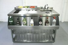 More details for 1250mm cocktail station, insulated ice well & bar sink with glass freshner