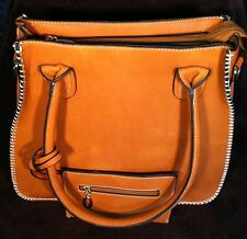 Trendy Fashion Tote & Coin Purse by d'Orcia Tan Shoulder Bag MJ-90120