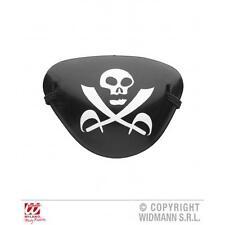 Black Pirate Eyepatch Eye Patch With Skull & Crossbones Fancy Dress