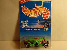 Hot Wheels Green Double Demon w/ 5 spoke wheels PKG# 477 MIP