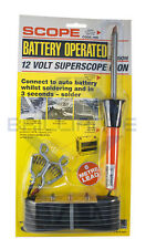 SCOPE 12V CAR BATTERY OPERATED SOLDERING IRON OUTDOOR SUPERSCOPE HIB