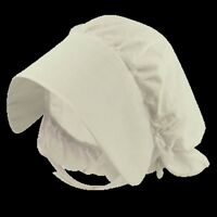 Adult White Victorian Edwardian Bonnet Style Mop Hat Fancy Dress Costume H20 214