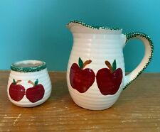 2 Pieces Apple Kitchen Decor - Pitcher & Sugar Dish
