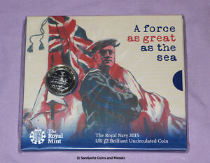 2015 ROYAL MINT SPECIMEN £2 COIN - ROYAL NAVY WWI ANNIVERSARY - Mint Sealed Pack