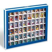Caja de coleccionismo K60; color azul.Tapa plegable con ventana transparente.