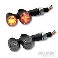 LED Blinker Rücklicht Bullet schwarz getönt smoke Motorrad Cruiser Harley Custom