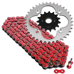 Red Drive Chain And Sprockets Kit for Honda TRX400EX Sportrax 400 2X4 1999-04